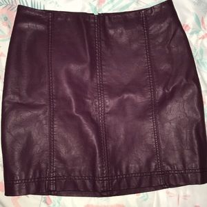 Free People Skirts - Free People Faux Leather Skirt